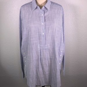 Madewell Striped Side Button Shirt